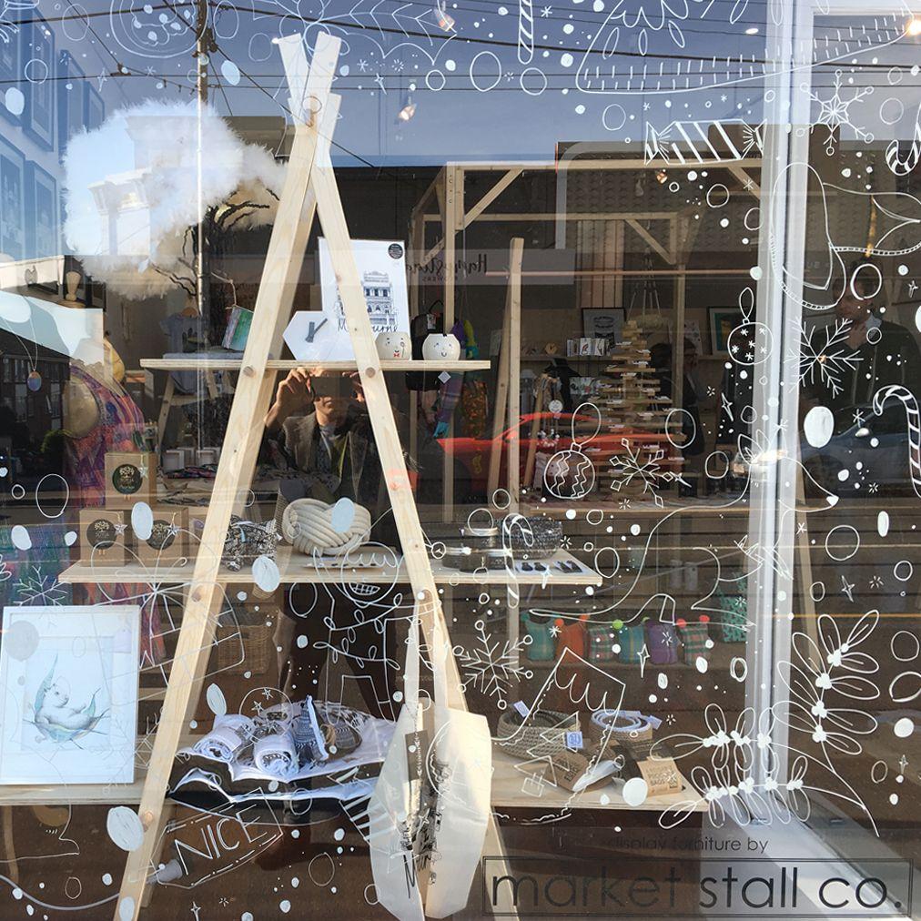 Ladder A Frame Craft Market Display Frame Handmade Shelving