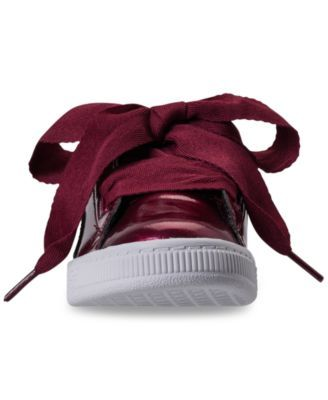 1fb5e7cc70e Puma Little Girls  Basket Heart Glam Casual Sneakers from Finish Line - Red  1.5