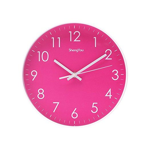 Amazon Com Sonyo Indoor Outdoor Non Ticking Silent Quartz Modern Simple Wall Clock Digital Quiet Sweep Movement Office Dec Wall Clock Digital Wall Clock Clock