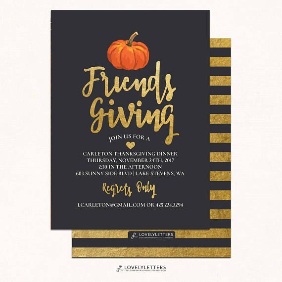 Friendsgiving Invitation  Thanksgiving Invitation  Digital