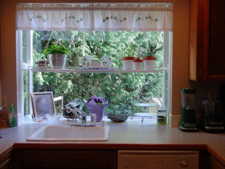 Kitchen Garden Windows We Just Have A Small Kitchen With An