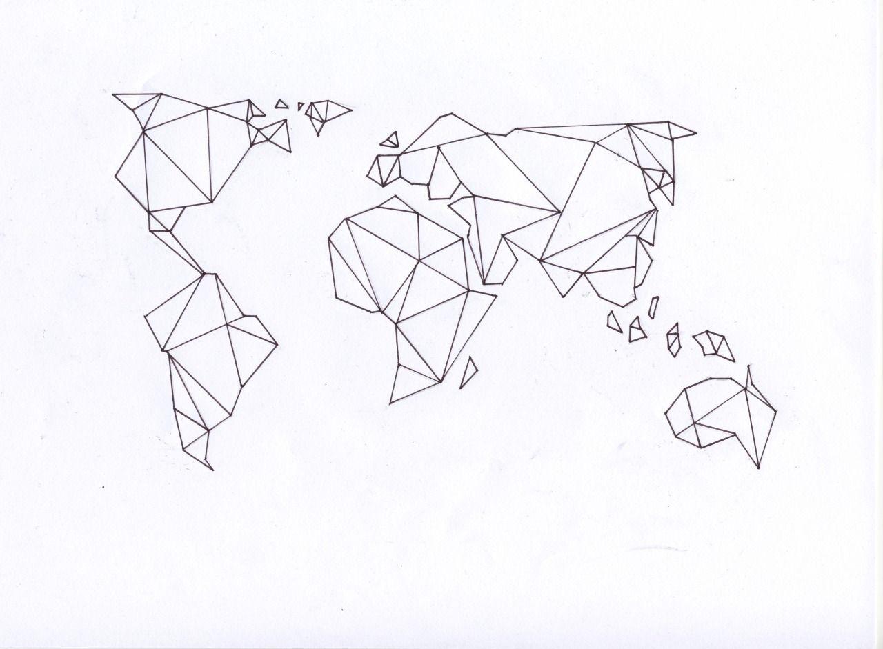 Yvondouben pinteres cool idea for a washi tape world mapdiy art geometric gumiabroncs Images