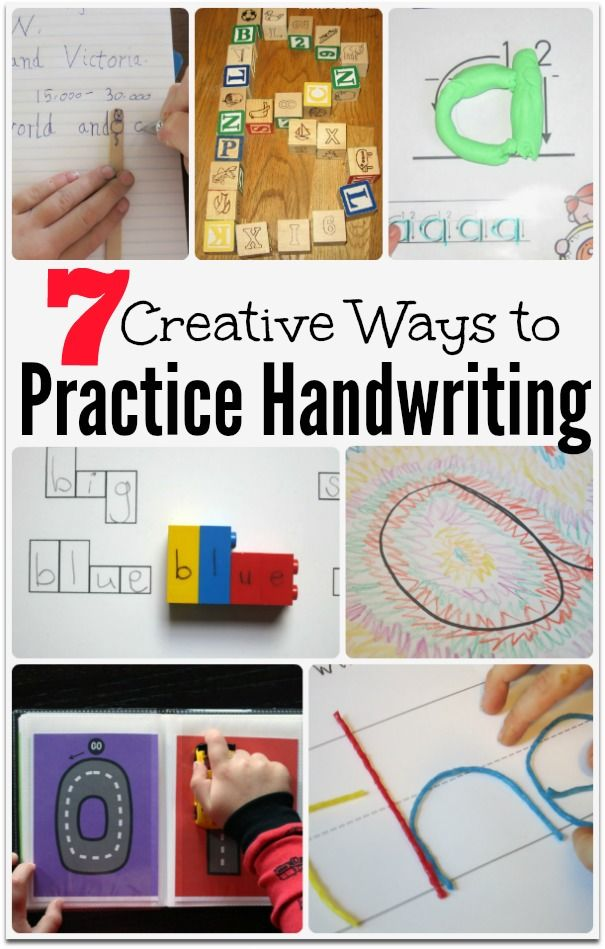 7 Creative Ways to Practice Handwriting | ABC Themes for ...