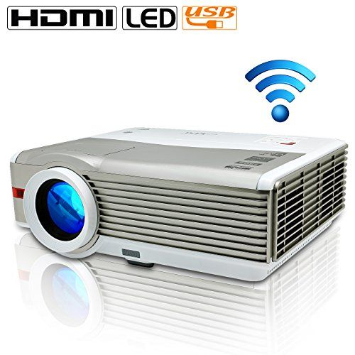 EUG Support 1080p Multimedia LED Wifi 4200 Lumens LCD Full Hd Projector Wireless, Cinema Theater…