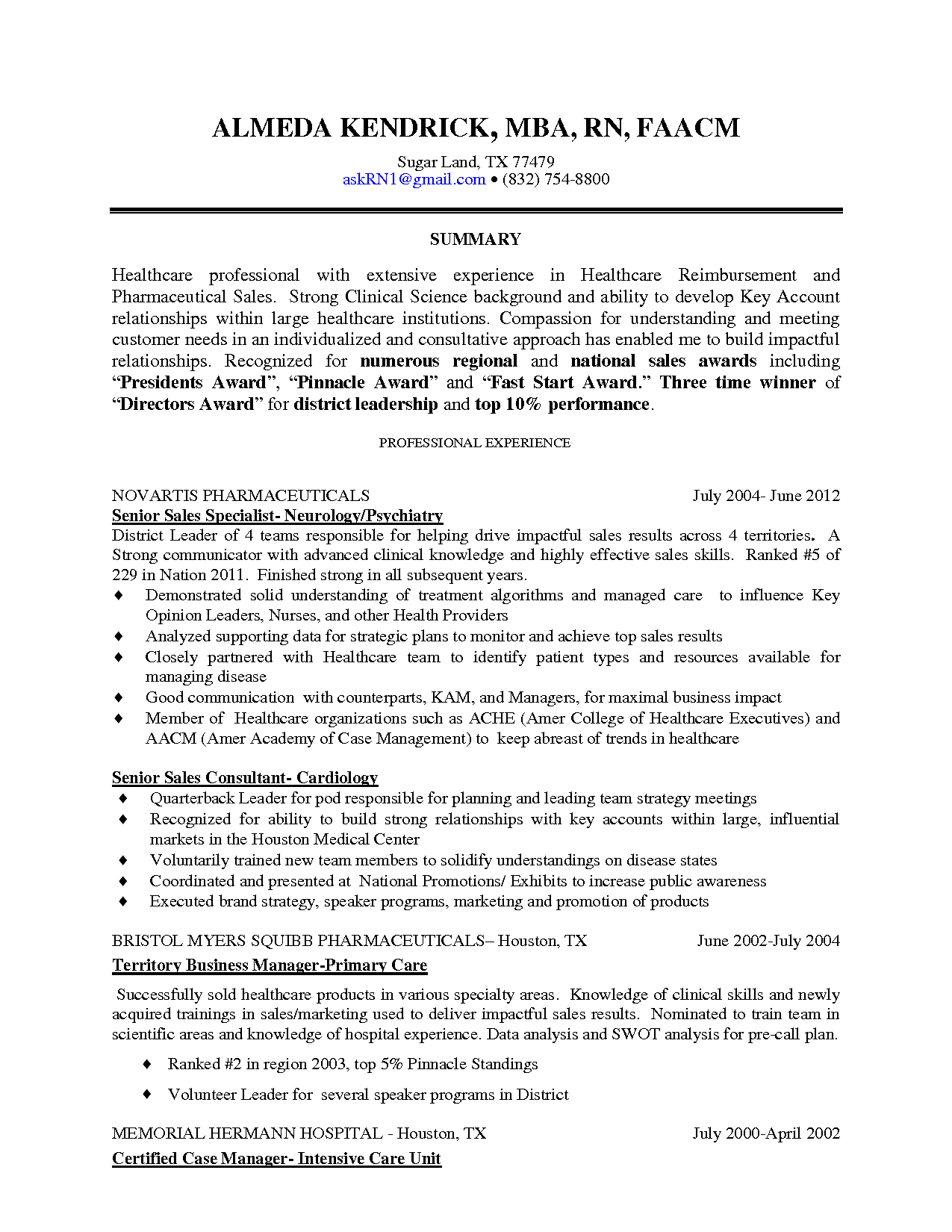 Resume sample skilled nursing facility