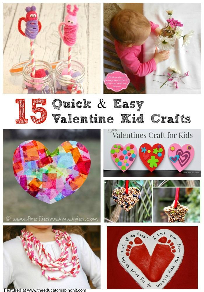 Valentines Kids Craft Ideas Part - 19: Quick And Easy Valentineu0027s Day Crafts For Kids