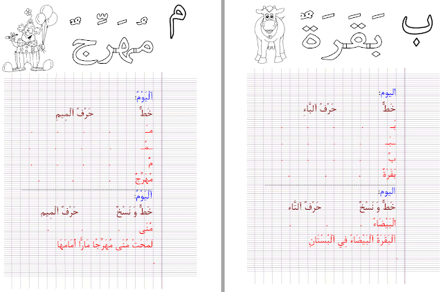 كراسة تحسين الخط للاطفال بالصور والاشكال بملف Pdf Islam For Kids Education Center Learning Arabic