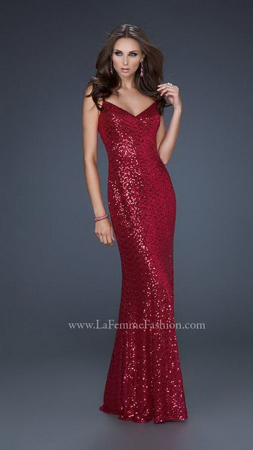 Long red sequin dress cheap