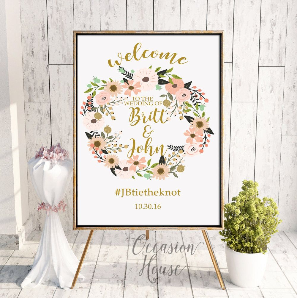 Printable Fall Wedding Welcome Signage, Wedding Welcome Sign, Autumn ...