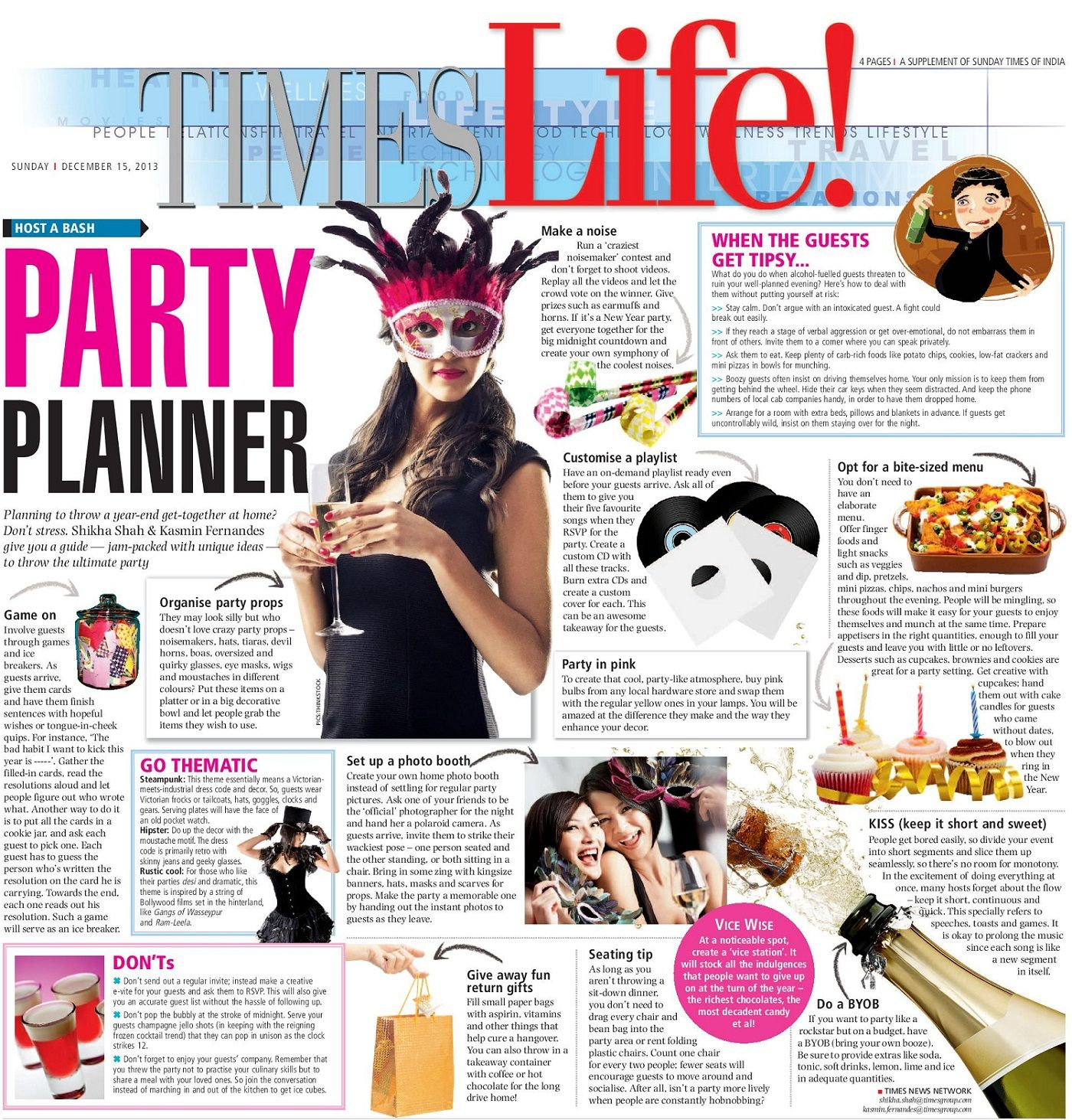 Party planning ideas for a 2014 New Year\'s Eve party at home ...