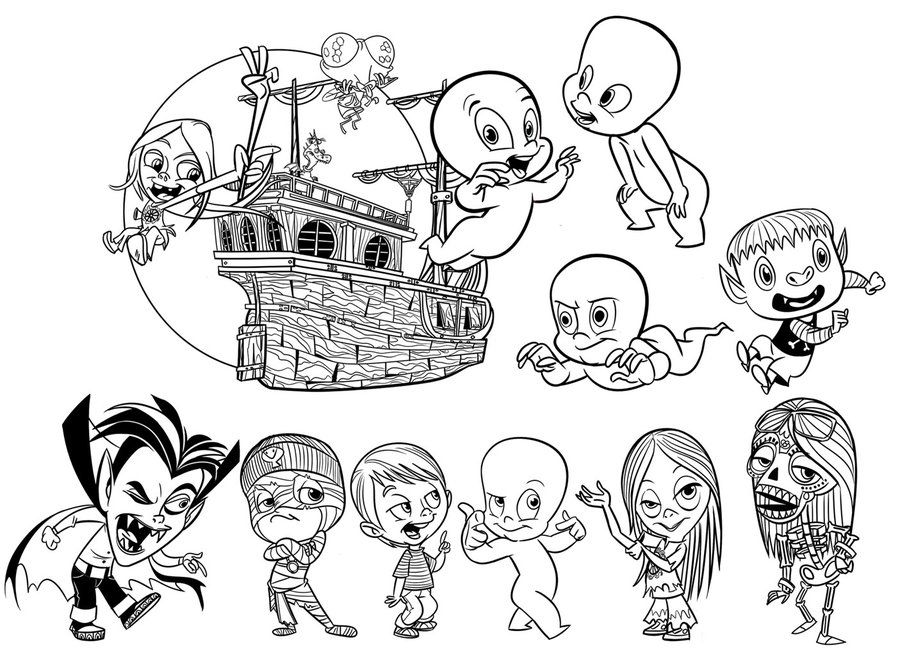 Casper Scare School Coloring Pages