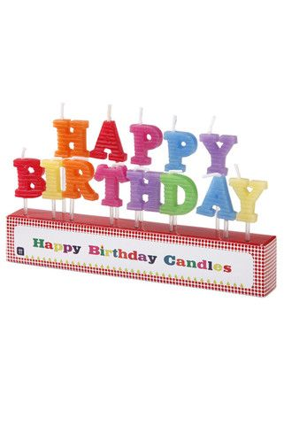 Happy Birthday Candles available at Moss Cottage!