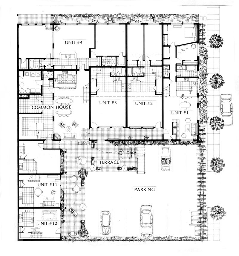 Doyle St Cohousing Site Plan Floor Plans How To Plan Co Housing