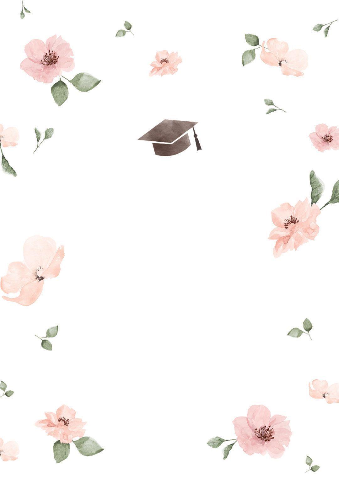 Graduation Art Abschluss Abschlussfeier Cherry Blossom Graduation Party Invitations Graduation Invitations Template Graduation Party Invitations Templates