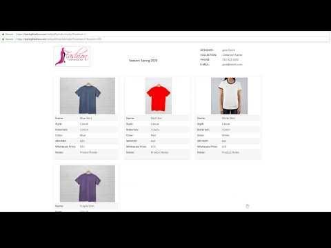 Wholesale Line Sheet Template Wholesale templates Pinterest
