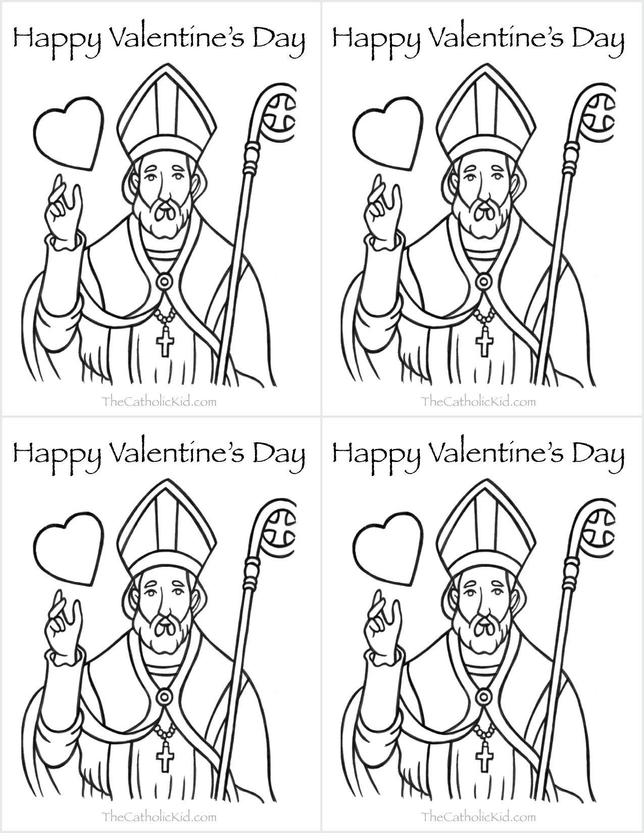 Catholic Valentines Day Cards Saint Valentine Coloring Page