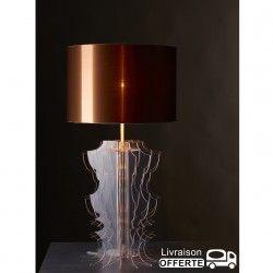 """Lampe plexiglass abat jour """"MELEN"""" Décoration"""