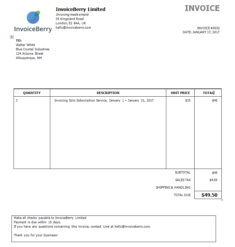 Your Completed Invoice  What Is An Invoice And How Can I Make One