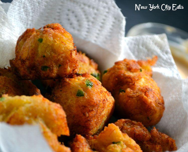 Crab hushpuppies w/ cheddar cheese & jalapenos delish