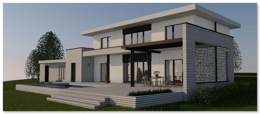 lamalizarde une maison passive moderne en b ton. Black Bedroom Furniture Sets. Home Design Ideas