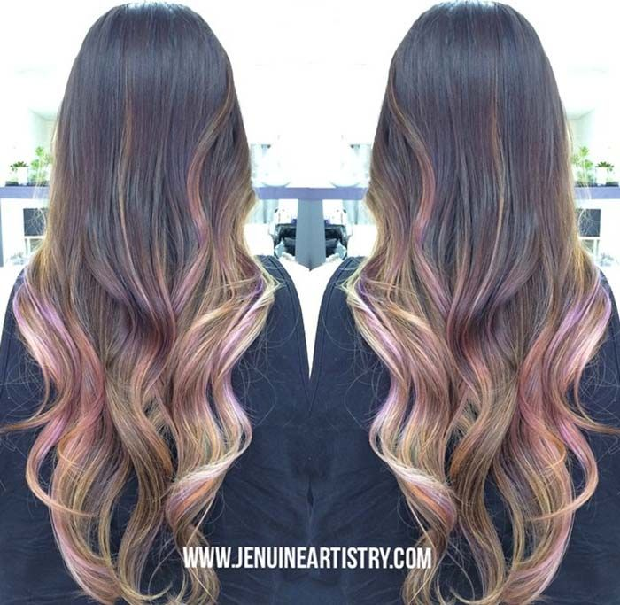 Colors That Look Good With Pink: 50 Balayage Hair Color Ideas To Swoon Over