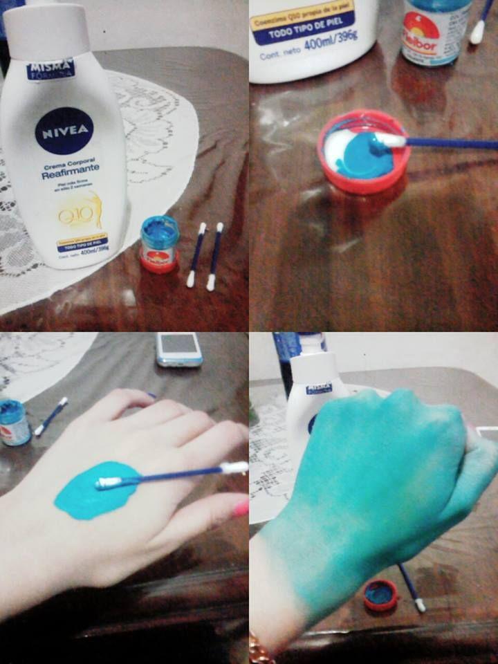 Crema corporal,de cara o manos -Colorante de comida -Hisopos y ...