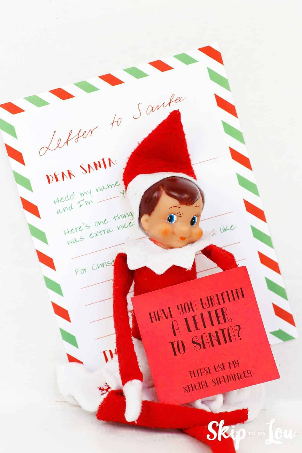 Elf With Letter To Santa And Post It Note Asking If You Have Written Your Letter Santa Letter Template Santa Template Free Letters From Santa