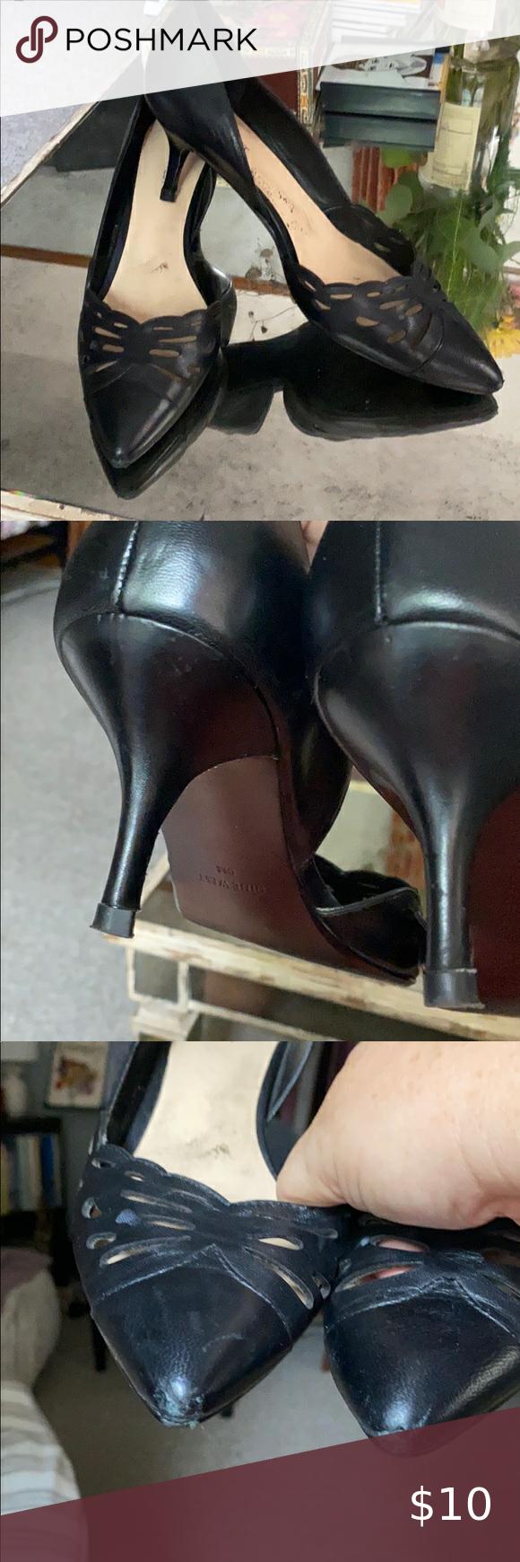 Leather Kitten Heel Nine West Pumps Size 9 In 2020 Kitten Heels Heels Shoes Women Heels