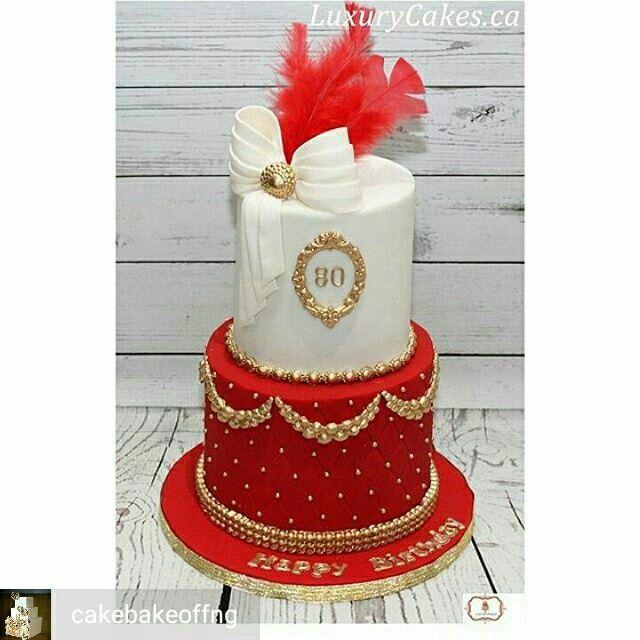 Geburtstag, Hochzeit Kuchendekorationen, Hochzeitstorten, Hübsche Kuchen, Schöne  Kuchen, Tolle Kuchen, Torten Kurs, Rosentorte, Kuchen Ideen, Rot Kuchen, ...
