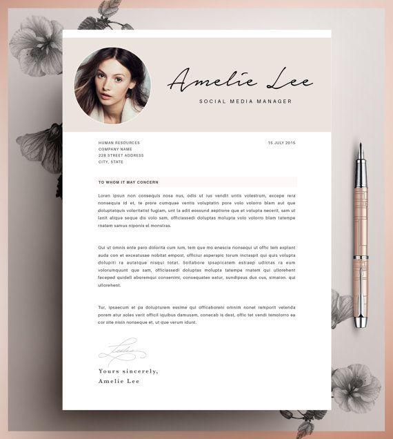 Creative Resume Template, Minimalist Resume, CV Design, Resume With Photo, Clean Resume, Lebenslauf For Mac oder PC, CoverLetter, 2 Seite