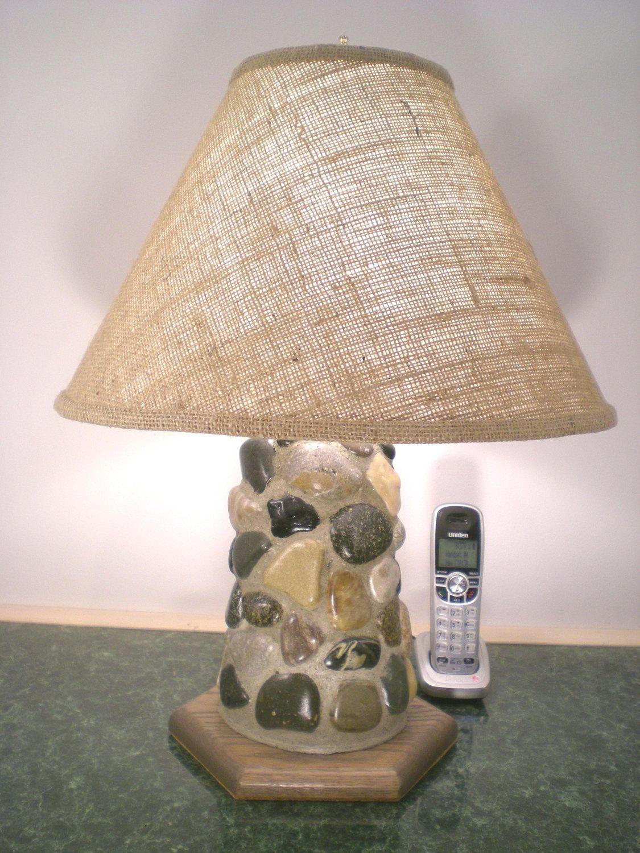 Tumbled rock table lamp 39500 via etsy ideas pinterest tumbled rock table lamp 39500 via etsy mozeypictures Gallery