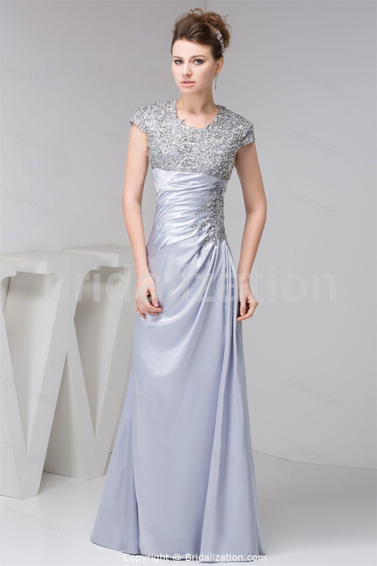 Junior Wedding Guest Dresses Charmeuse Dress Evening Dresses With Sleeves Evening Dresses [ 1800 x 1200 Pixel ]