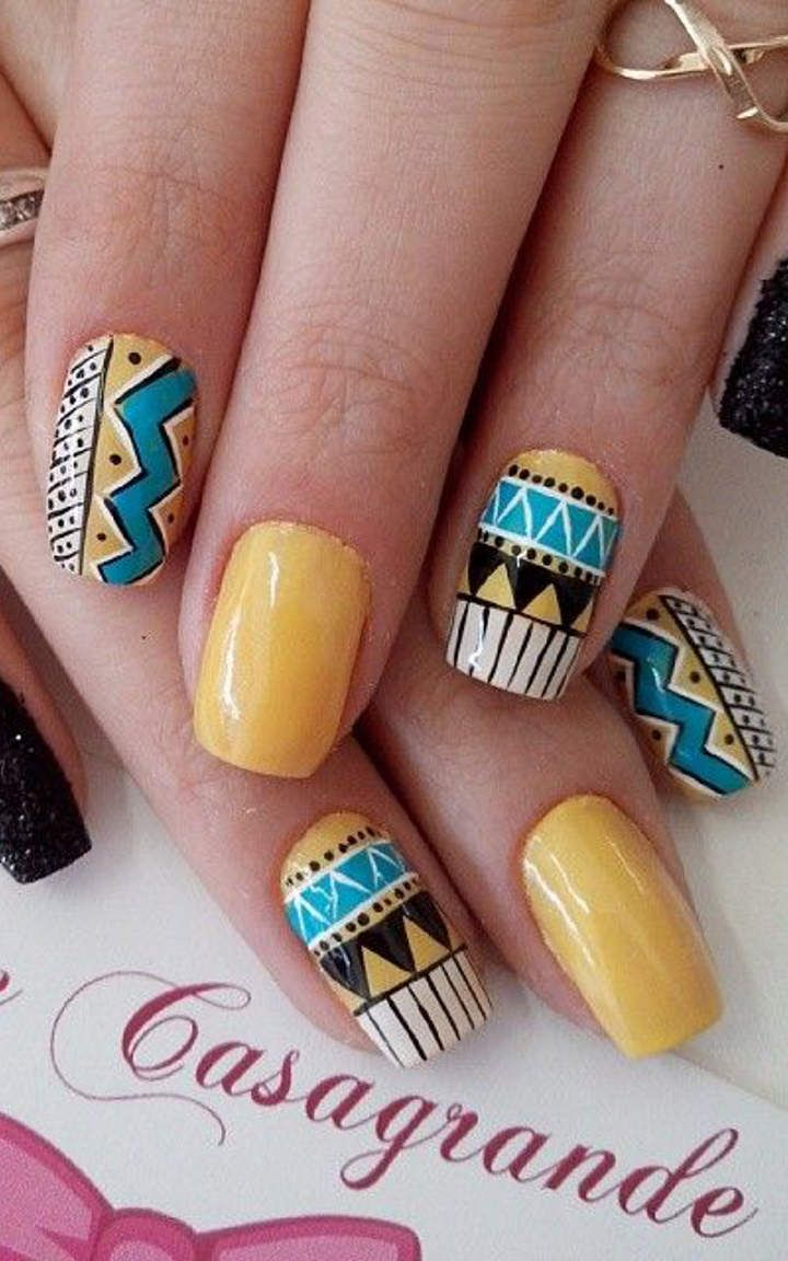 Aztec Nail Designs | Graham Reid