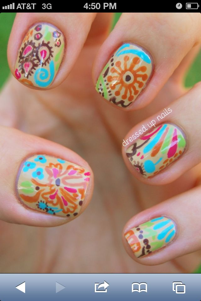 Nail Designs to Try: Amazing Nail Arts for the Week | Vera bradley ...