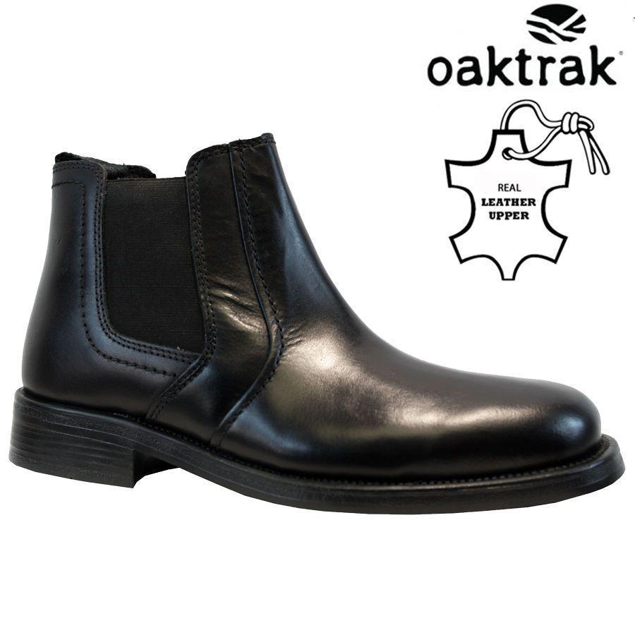 7a6e2ed3898 Details about Mens Oaktrak Leather Chelsea Dealer Casual Biker Ankle ...