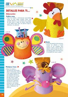 Ediciones fiomat detallitos un regalito de microporoso foam crafts party pinterest - Detallitos para ninos ...