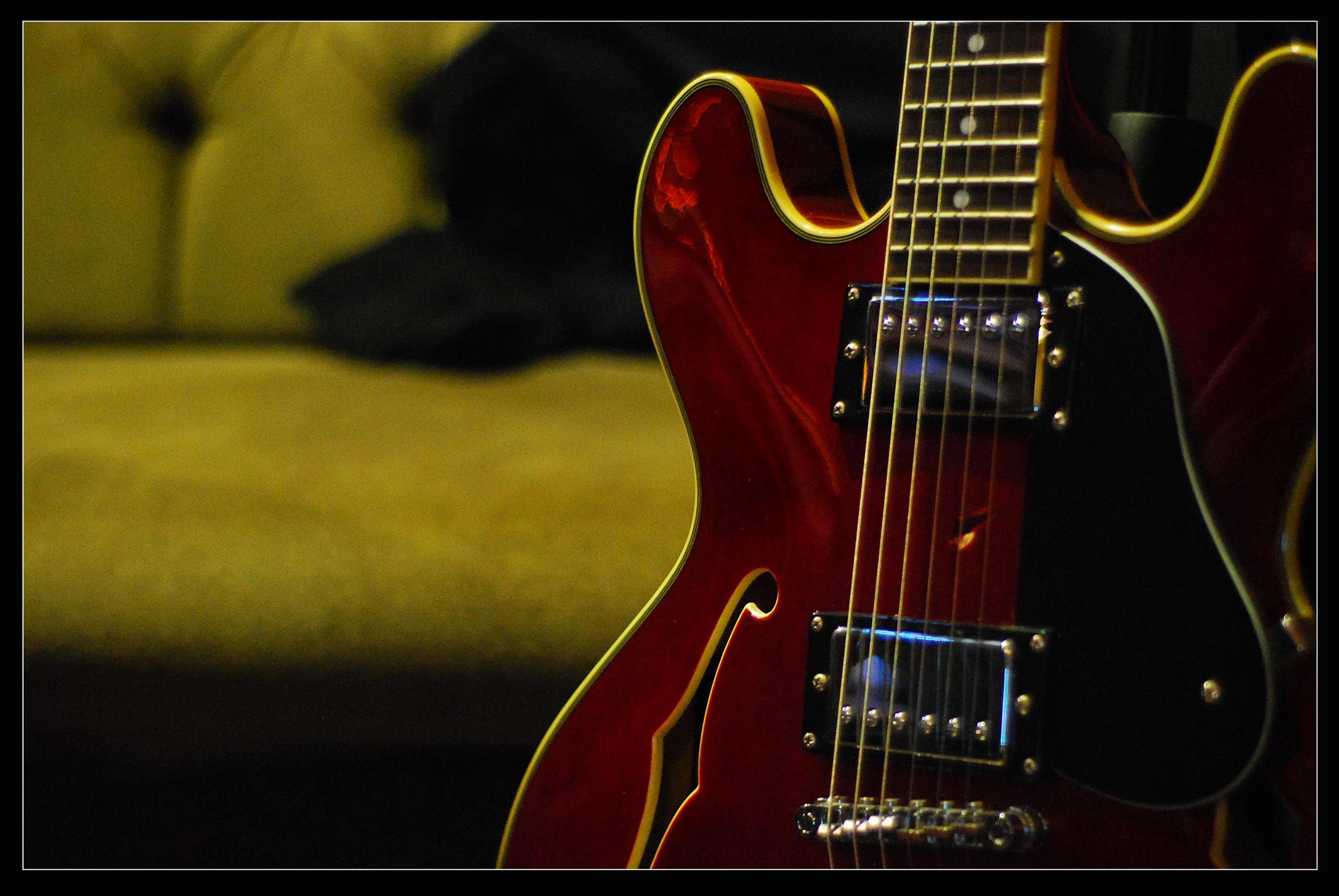 Vintage Red Guitar Wallpaper From Guitar Wallpapers Wallpapers