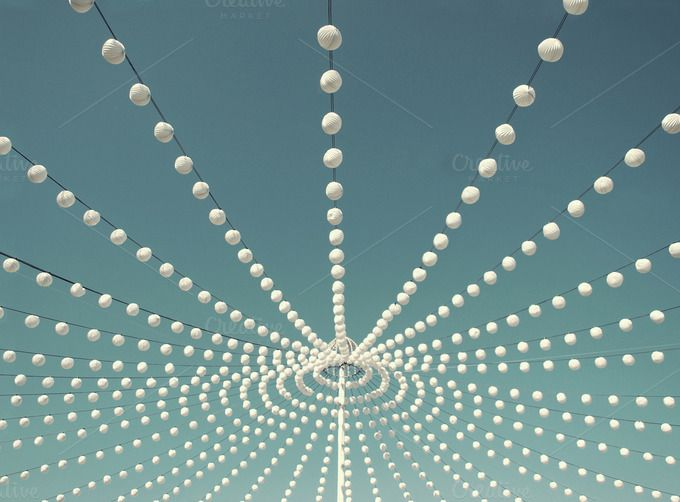 White decorative lanterns by Cazador de sueños on Creative Market