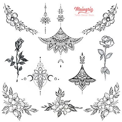 11 underboob – tattoo design download #1