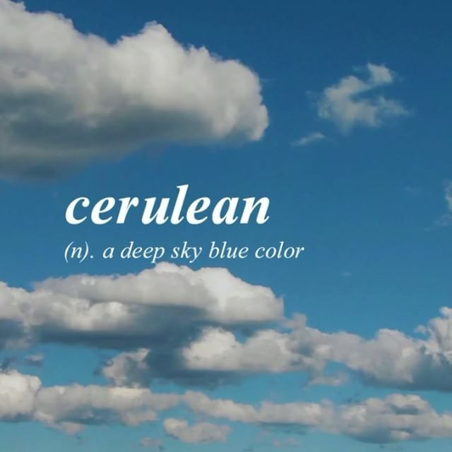 Clear Skies English With Latin Origin Uncommon Words Blue Sky