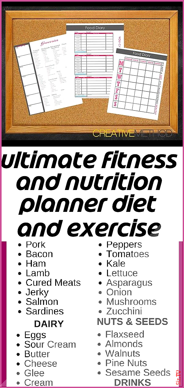 Ultimate fitness and nutrition planner diet and exercise journal and meal log w 2 Ultimate fitness and nutrition planner diet and exercise journal and meal log w 2 Jason...