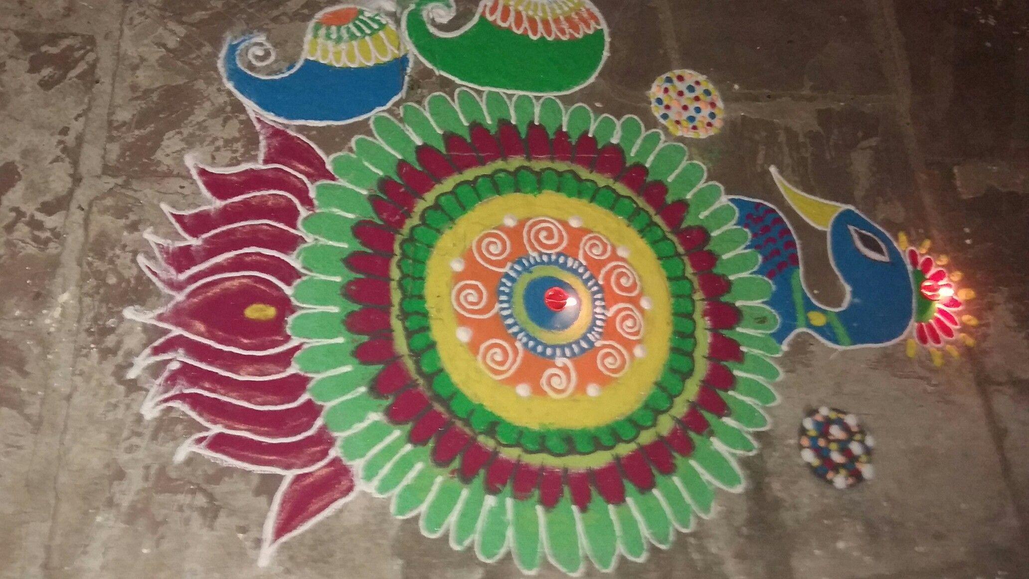 Diwali rangoli wali