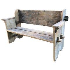 Rustic Scottish Garden Bench in 2020 | Wood bench outdoor ...