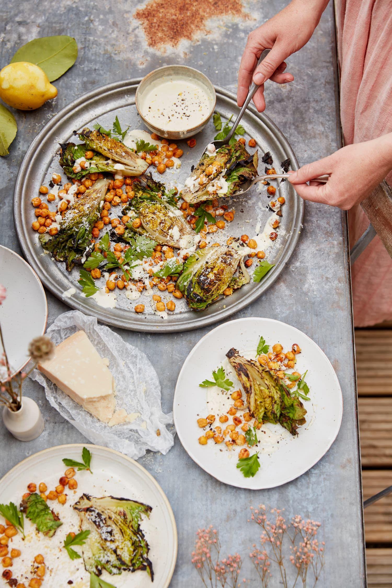 Grilled Caesar Salad Belongs On Your Summer Bucket List Recipe Caesar Salad Chickpea Recipes Crispy Chickpeas
