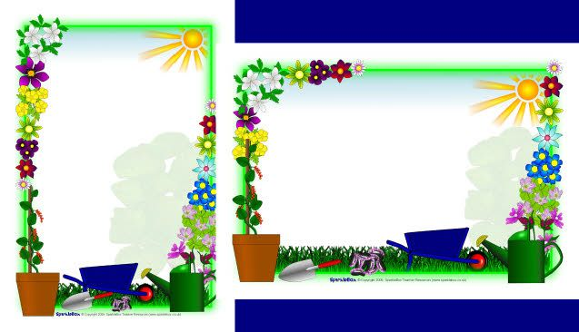 Plant Growing A4 Page Borders SB2262