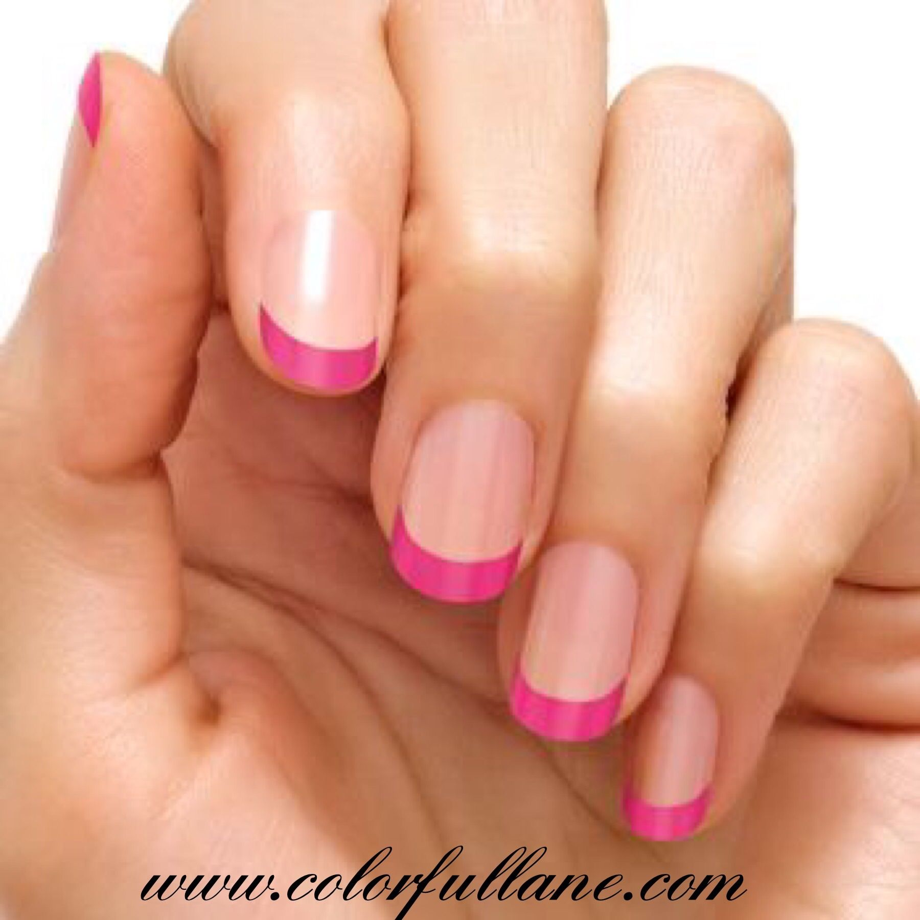 Hollywood Kiss by Color Street is a very beautiful French manicure ...