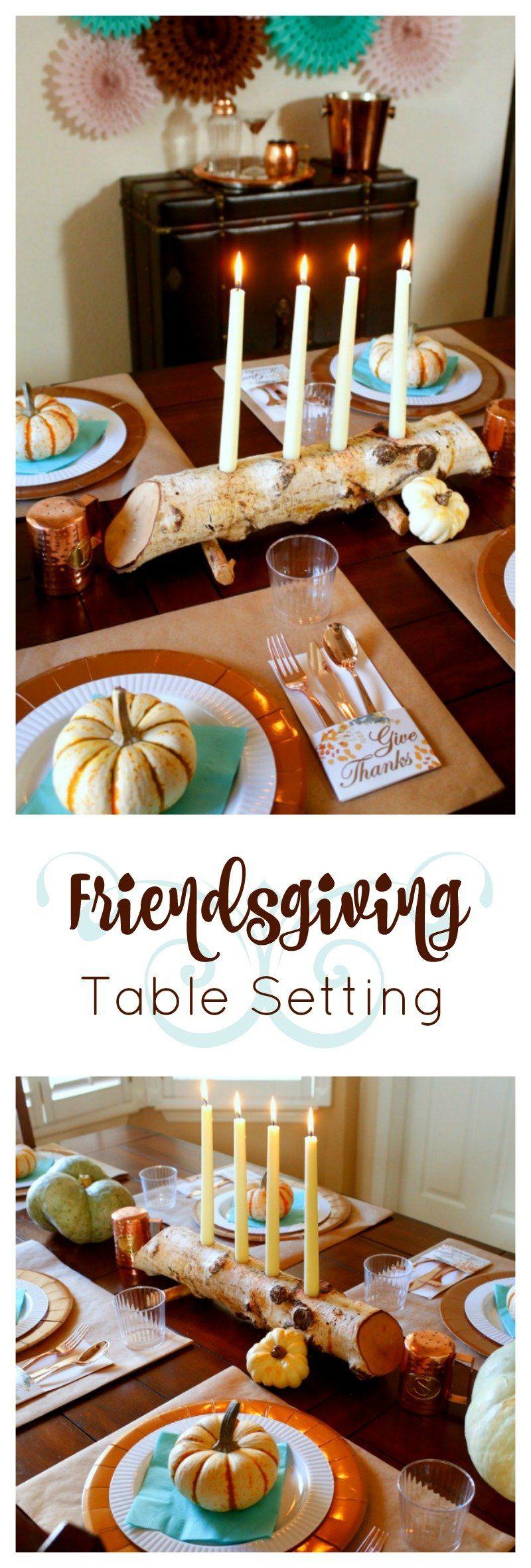 Friendsgiving Table Setting #thanksgivingtablesettings