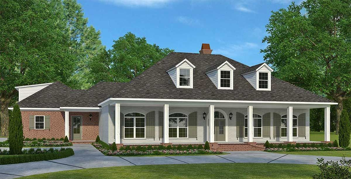 Div Ul Li Living Outdoors Is A Big Part Of The Appeal Of This Southern House Plan Li Li A Hug Acadian House Plans Southern House Plan Acadian Style Homes