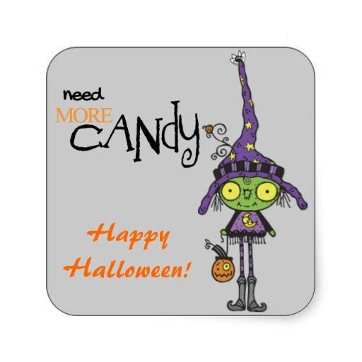 Cute Green Witch Halloween Sticker from Sand Creek Ventures