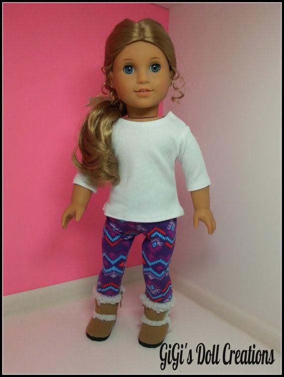 Handmade Doll leggings Doll Shirt fits by GiGisDollCreations